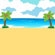 Beach clipart tropical landscape royalty free vector ...