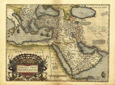 Selim I - Outline of the Ottoman Empire, from the Theatro d'el Orbe de la Tierra de Abraham Ortelius, Anvers, updated from the 1570 edition. Old Maps, Antique Maps, Fine Art Prints, Framed Prints, Canvas Prints, Library Images, Egypt Travel, Science Photos, Ottoman Empire