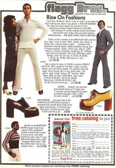 25 Outrageous Fashion Ads From The 1970s--and CHECK OUT THE SHOES! They're MEN'S!