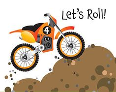 Dirt Bike Birthday Party Invitation for kids