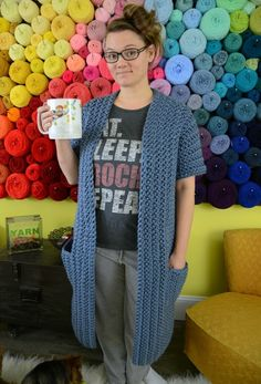 free pattern for a chunky housecoat
