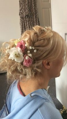 Floral bridal updo by Helen