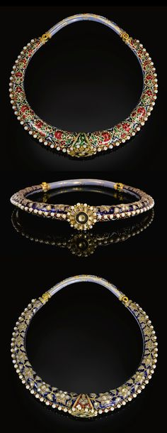 India ~ Jaipur | Enamelled and gem set torque (Hasli) | 19th century | 25'000£ ~ sold (Apr '11)