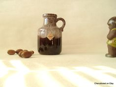 Scheurich 414-14 bottle vase in foaming effect in glaze    Vintage WGP by Cherryforest on Etsy