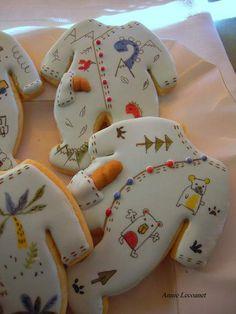 Cookies Baby Boy Cookies, Cookies For Kids, Cute Cookies, How To Make Cookies, Cupcake Cookies, Iced Sugar Cookies, Royal Icing Cookies, Fiesta Baby Shower, Paint Cookies
