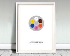 Reservoir Dogs A3 Print, Film Posters Movie Poster, art, minimal print