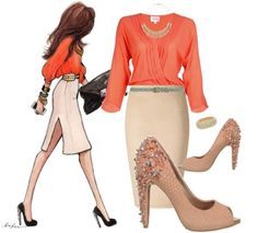 "A chic work outfit paired with the Sam Edelman ""Lorissa"""