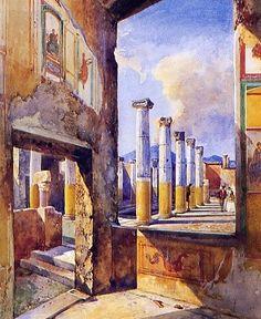Giacinto Gigante - La casa dei capitelli colorati a Pompei
