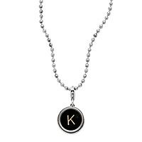 "Of course I'll take a ""D"" TYPEWRITER KEY NECKLACE