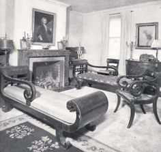 American Empire Furniture In The Tenney House From Deering Davis, Stephen  P. Dorsey,
