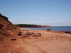The coast of Prince Edward Island, as seen from Cavendish.