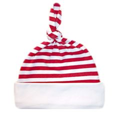 e84cfb3472a Red and White Striped Knotted Baby Hat Small Preemie 36 Pounds -- You can  get