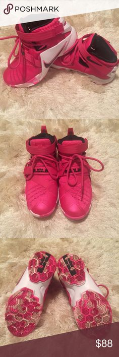 •like new• Lebron 9 Soldier Breast Cancer YOUTH Size 5.5  Excellent condition - worn once. Come with box.   No trades/holds Nike Shoes Athletic Shoes