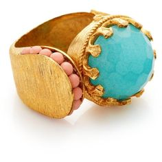 Ottoman Hands Festival Wrap Ring found on Polyvore featuring jewelry, rings, turquoise, thick rings, adjustable rings, thick band rings, band rings and wrap around ring