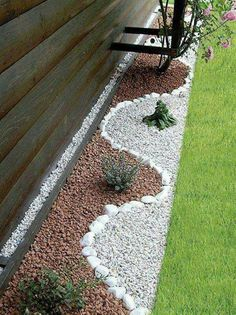 You can also create stone pictures in your backyard