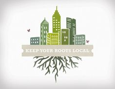 """I like the connection of main street west chester to the roots of our local producers. Not sure what we would use for our """"skyline"""" however. Buy Local, Shop Local, Logo Design, Graphic Design, Support Local, Main Street, Logo Inspiration, Infographic, Logos"""