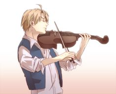 """I know this is probably suppose to be Al playing a nice classical song on the violin... But I'd rather imagine him aggressively playing """"Cotton-eye Joe"""" on the fiddle instead xD"""