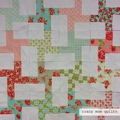 crazy mom quilts: marmalade quilt--the beginning Jellyroll Quilts, Scrappy Quilts, Easy Quilts, Mini Quilts, Quilting For Beginners, Quilting Tutorials, Quilting Projects, Quilting Ideas, Quilt Block Patterns
