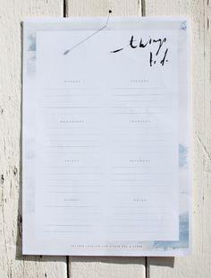 No Excuses: 20 Free Printable To-Do Lists via Brit + Co.