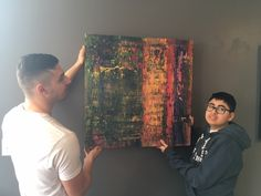 My First Painting Showing At A Cafe: Autism Art  #abstract #painting #autism #artist  - #NiamJain #Niam #Jain #Autism #Artist #emerging artist #autistic #artist #autism