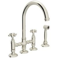 Two Handle Kitchen Faucet 4 Hole