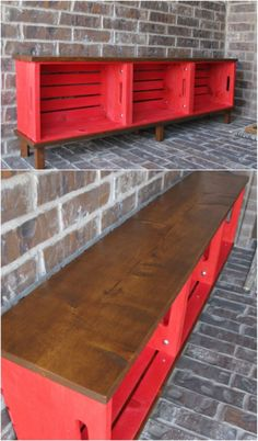 20 Cool DIY Projects To Deck Out Your Deck For Summer Entertaining 2019 Easy DIY Crate Bench The post 20 Cool DIY Projects To Deck Out Your Deck For Summer Entertaining 2019 appeared first on Deck ideas. Diy Furniture Chair, Furniture Making, Cheap Furniture, Furniture Ideas, Diy Furniture Easy, Furniture Cleaning, Furniture Logo, Furniture Removal, Bespoke Furniture