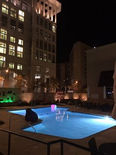 The Pool Area At Night!