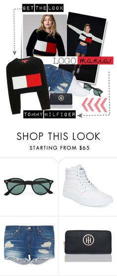 """Logo Mania Tommy Hilfiger"" by groove-muffin ❤ liked on Polyvore featuring Post-It, Ray-Ban, Vans, rag & bone and Tommy Hilfiger"