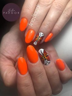 #nails #nails2inspire #nailstoinspire #nailsinspiration #studiopazoor #longnails #fluomania #colourfullnails #orangenails #butterflynails #aquarellenails #paznokcie #inspiracjepaznokciowe #aveneon #indigo #nailsbyania #shortnails #mediumnails #ombrenails Short Nails, Long Nails, Orange Nails, Nails Inspiration, Color, Nail Hacks, Orange Nail, Colour, Paint