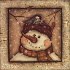 Snowman II, Art Print by Kim Lewis