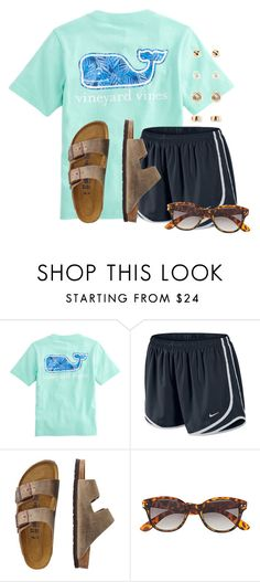 """""""Watching men's gymnastics"""" by flroasburn ❤ liked on Polyvore featuring NIKE, TravelSmith, H&M and Forever 21"""