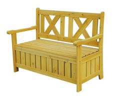 Garden Bench with Built in Storage Box. Outdoor storage bench with arms, decorative back, and detached lid. Adds wide, comfortable seating and hidden storage on patios and porches of all sizes. Patio Storage Bench, Outdoor Storage Units, Workbench With Storage, Patio Bench, Garden Bench With Storage, Hall Bench, Bench Decor, Storage Shelving, Box Storage
