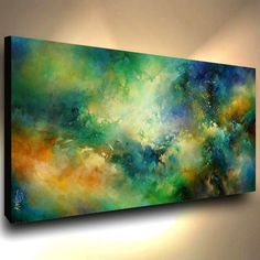 abstract art PAINTING MODERN Contemporary DECOR VIDIO Mix Lang cert. original   Art, Paintings   eBay!