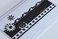 Black and White Handmade Card Love With Love by CardsbyJeweleighaB, $3.50