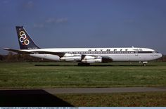 Olympic Airways Boeing 707-351C (City of Thebes - Θήβες) [SX-DBP] at Hamburg airport in 1987