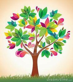 Illustration of Beautiful colorful tree. vector art, clipart and stock vectors. Tree Clipart, Cross Clipart, Vector Trees, Handprint Art, Tree Quilt, Colorful Trees, Free Vector Art, Drawing For Kids, Tree Art