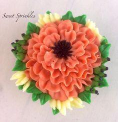 Buttercream Flower - Cake by Deepa Pathmanathan