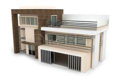 3d house on white isoliert gerendert generic photo
