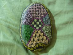 Zentangle rock turtle