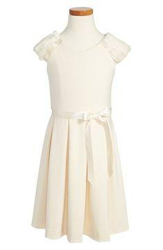 BLUSH by Us Angels Rabbit Fur Trim Dress (Big Girls)   Nordstrom