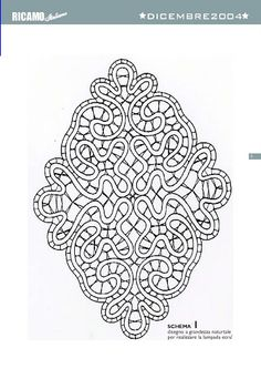 cantu - asun O - Веб-альбомы Picasa Bobbin Lace Patterns, Embroidery Flowers Pattern, Embroidery Monogram, Embroidery Patterns Free, Bead Loom Patterns, Embroidery Hoop Art, Hairpin Lace Crochet, Crochet Edgings, Crochet Motif