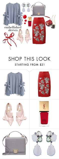 """Без названия #412"" by levickaya-style ❤ liked on Polyvore featuring Chicwish, Alexander McQueen, Yves Saint Laurent, Smythson and Topshop"
