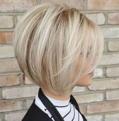 60 Best Short Bob Haircuts and Hairstyles for Women Blonde Bob With White Highlights Bob Haircuts For Women, Short Bob Haircuts, Layered Haircuts, Modern Haircuts, Short Hair With Layers, Short Hair Cuts, Medium Hair Styles, Short Hair Styles, Short Hair Trends