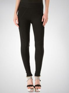 Black Slim Thin Pencil Pant With Zipper On The Side H756