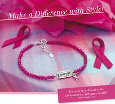 Order this limited quantity Bravery Bracelet NOW and $10 will be donated to Living Beyond Breast Cancer! $39 Item # is B2963, pink quartz and sterling silver. ORDER VIA THIS LINK by choosing Bravery Bracelet @ www.mysilpada.com/deneen.gethouas #fundraising #sterling silver #silpada