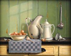 Marian van der Sanden | OIL | Fresh Eggs With Garlic