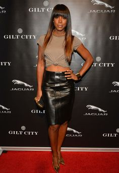 Kelly Rowland skirts | Kelly Rowland Leather Skirt