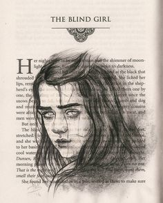 Imagen de game of thrones, arya stark, and got Game Of Thrones Drawings, Game Of Thrones Art, Valar Dohaeris, Valar Morghulis, Familia Stark, Art Sketches, Art Drawings, Game Of Thrones Merchandise, Blind Girl