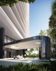Porte-cochère of Faena House Miami Beach by Foster + Partners   DesignRulz.com