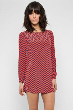 Chevron dress from Tobi
